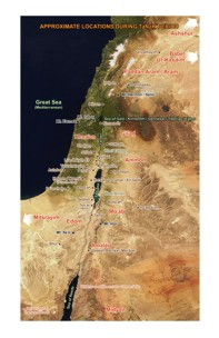 color map of israel