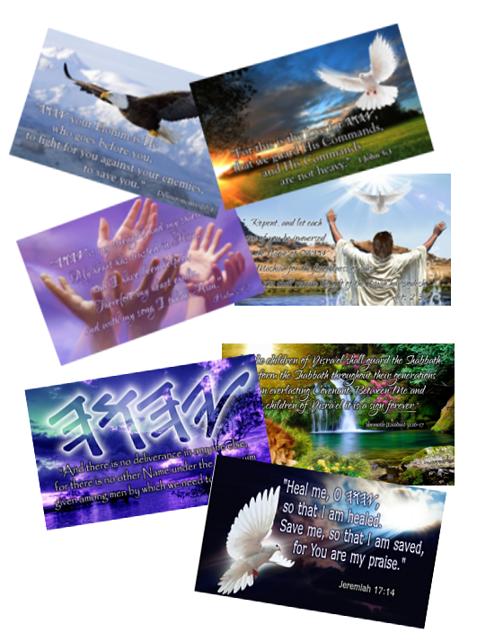 HalleluYah Scriptures Cards of Hope